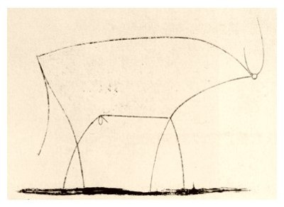 Bull - plate 11 by Pablo Picasso